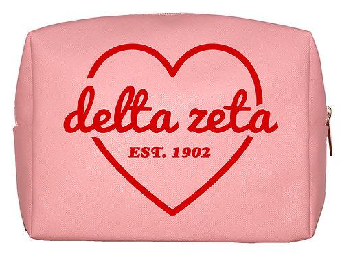 Delta Zeta Sweetheart Makeup Bag