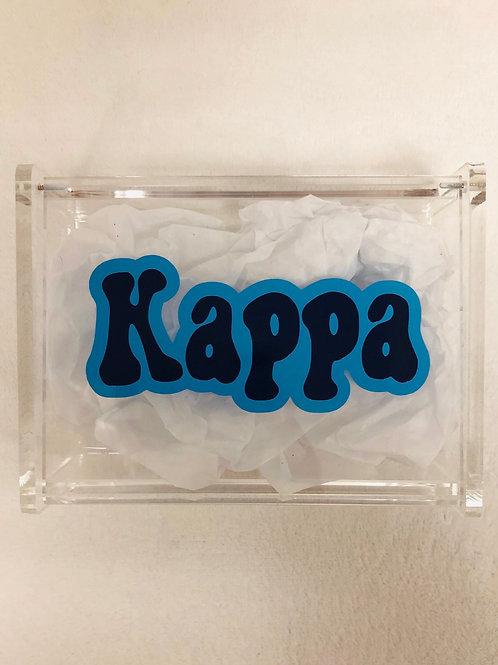 Kappa Kappa Gamma Retro Acrylic Box