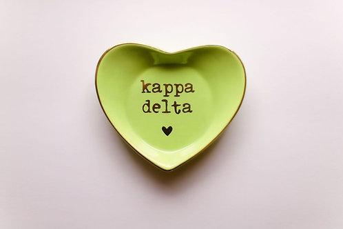 Kappa Delta Heart Ring Dish