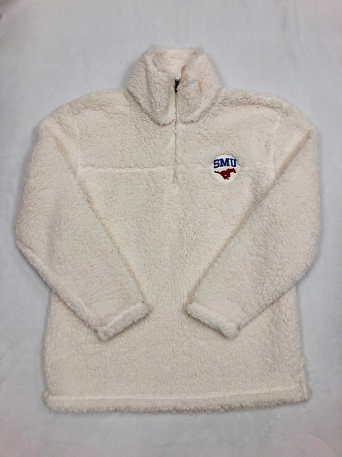 SMU Sherpa Fleece - Natural White