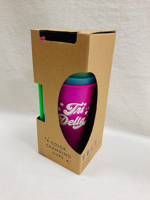 Delta Delta Delta Color Changing Tumblers