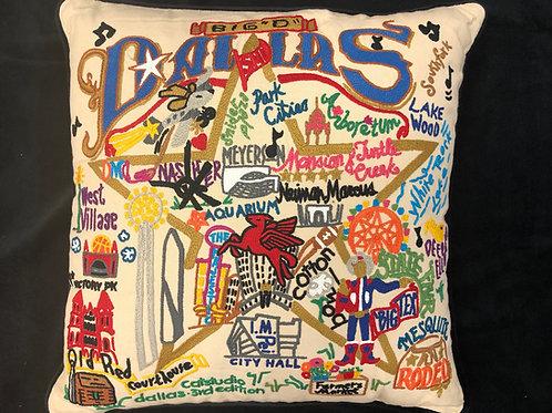 Dallas, Texas Embroidered Pillow