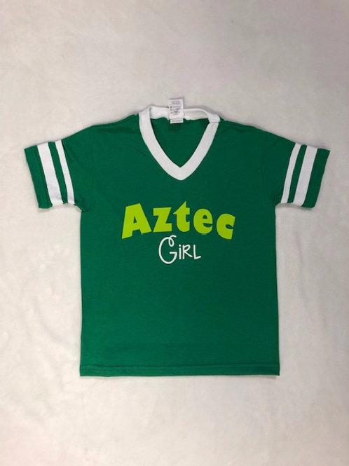 Aztec Girl V Neck Shirt