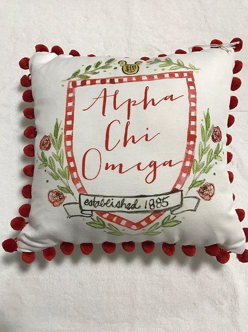 Alpha Chi Omega Pom Pom Pillow