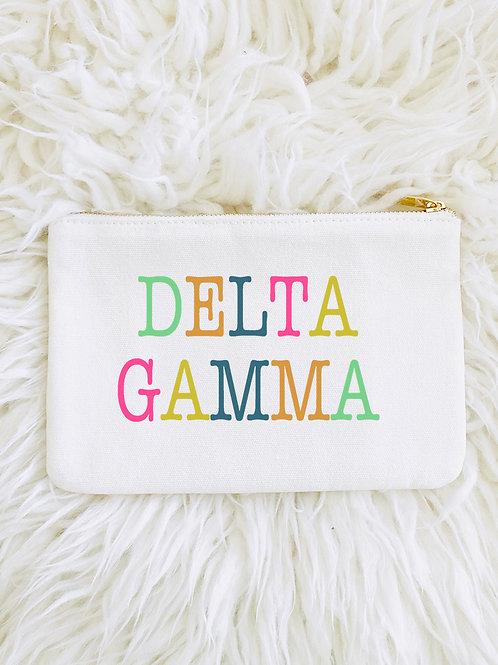 Delta Gamma Color Block Makeup Bags