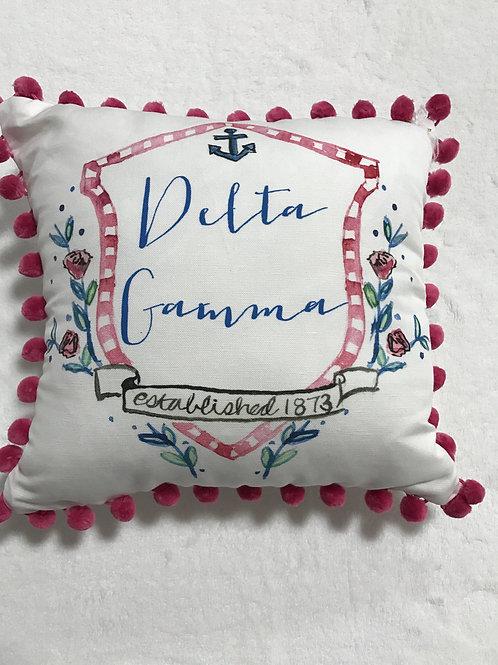 Delta Gamma Pom Pom Pillow