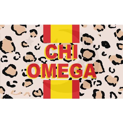 Chi Omega Leopard Flag