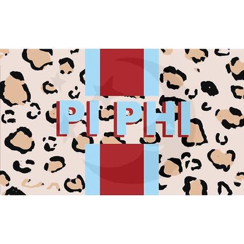 Pi Beta Phi Leopard Flag