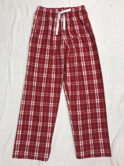 Plain Red Flannel PJ Pants