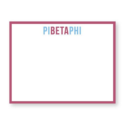 Pi Beta Phi Note Cards
