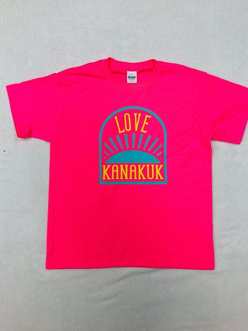 Kanakuk Neon Pink Sunrise Shirt