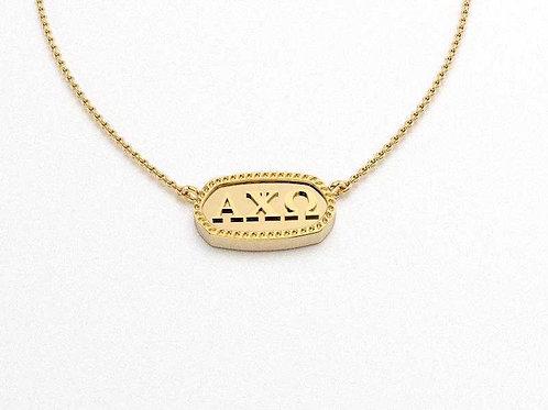 Alpha Chi Omega Gold Necklace