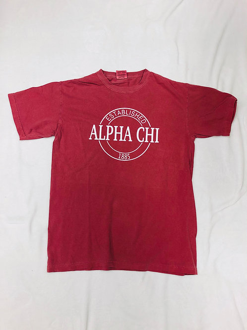 Alpha Chi Omega Comfort Colors Established Short Sleeve Tee