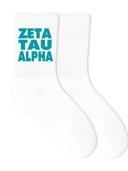 Zeta Tau Alpha Sorority Crew Socks