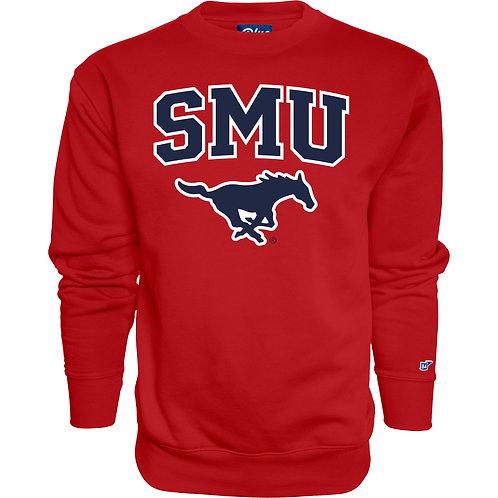 SMU Sweatshirt Crew Neck - Red
