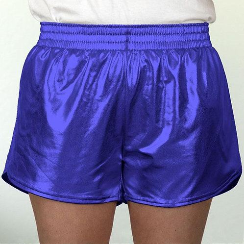Adult Royal Blue Metallic Summer Shorts