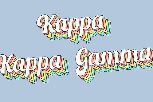Kappa Kappa Gamma Retro Flag