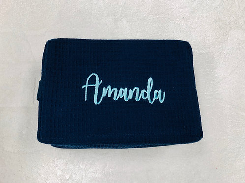Personalized Waffle Makeup Bag- 12 Colors Available
