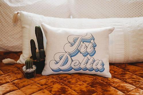 Delta Delta Delta Retro Pillow