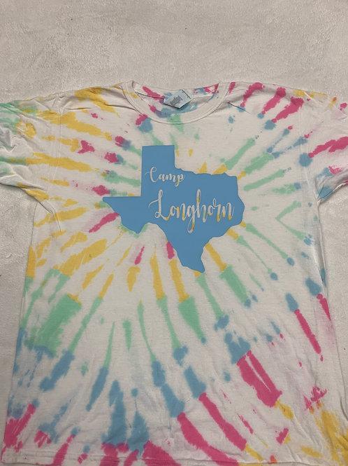 Camp Longhorn Devine Tie Dye Tee