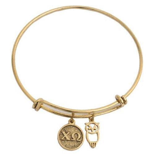 Chi Omega Gold Bracelet