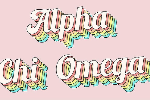 Alpha Chi Omega Retro Flag