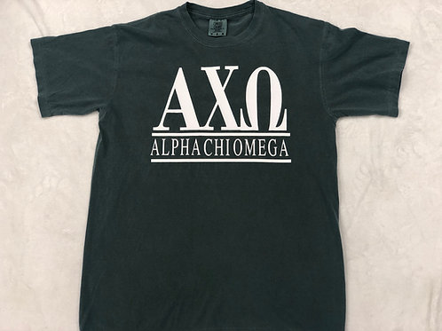 Alpha Chi Omega Comfort Colors Short Sleeve Tee