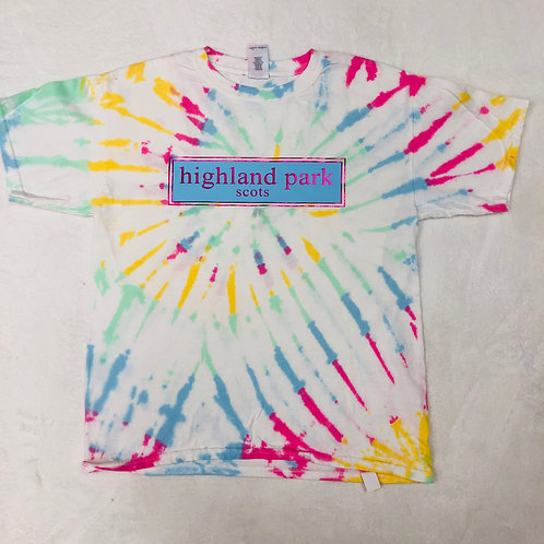 Highland Park Tie Dye Prep Design In Blue and Pink