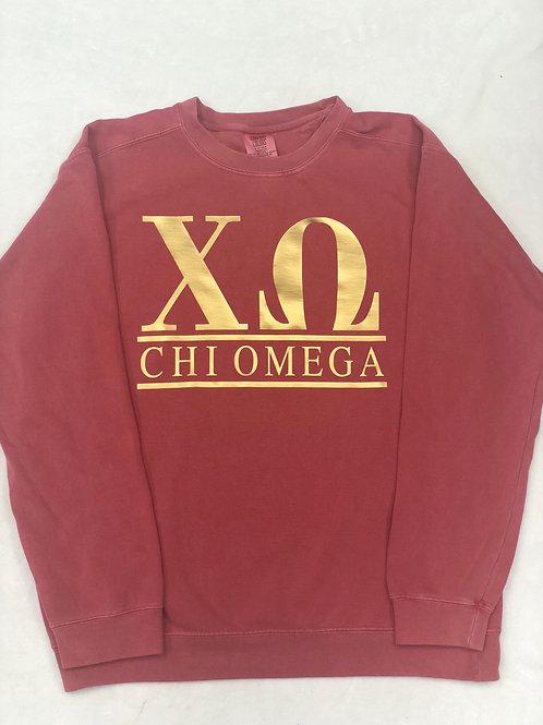 Chi Omega Comfort Colors Sweatshirt