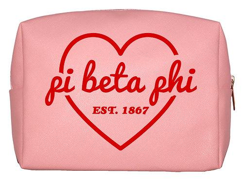 Pi Beta Phi Sweetheart Makeup Bag