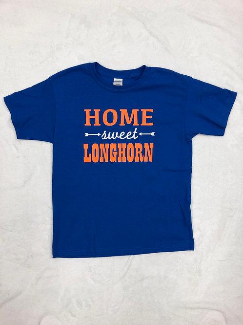 Home Sweet Longhorn Royal Tee