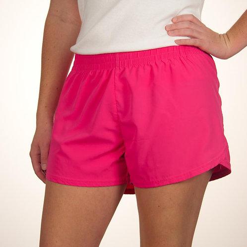 Youth Hot Pink Summer Shorts Plain