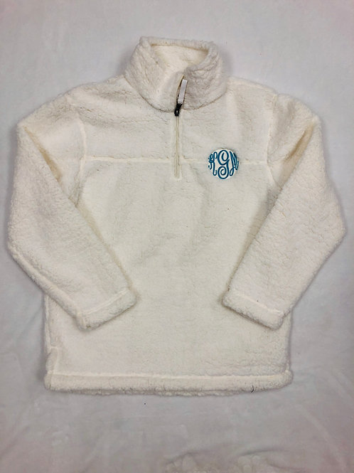 Youth Monogrammed Sherpa