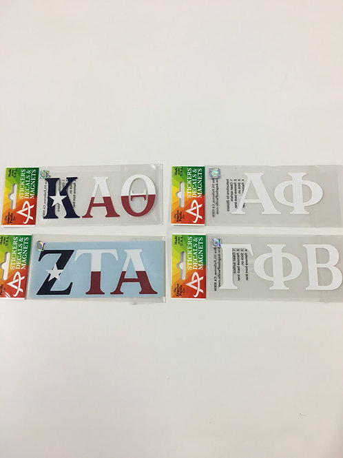 Sorority Car Decals