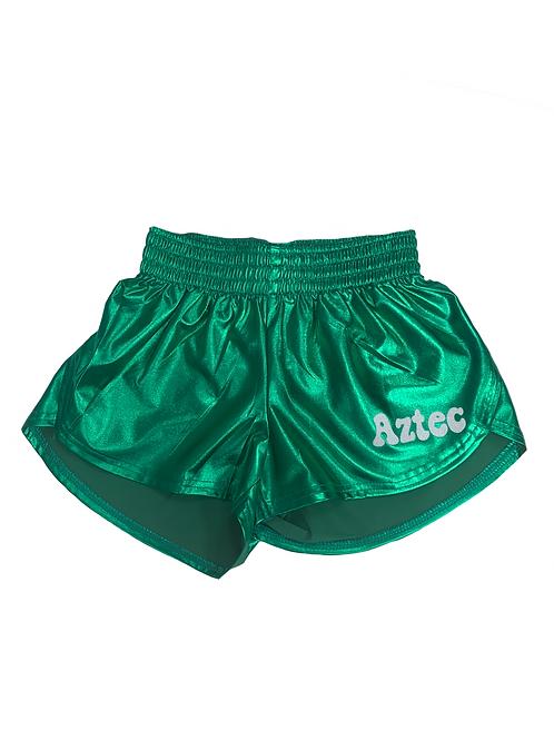 Aztec Green Metallic Shorts