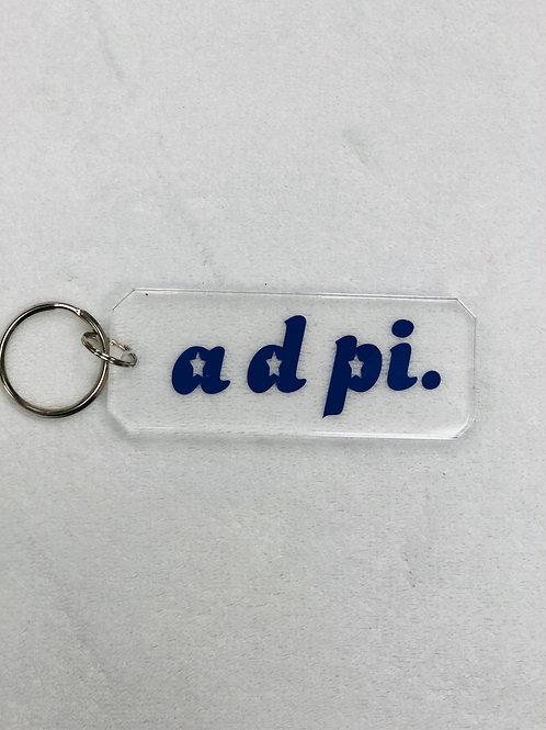 Alpha Delta Pi Acrylic Keychain