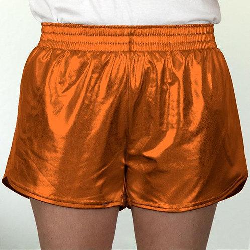 Adult Orange Metallic Summer Shorts