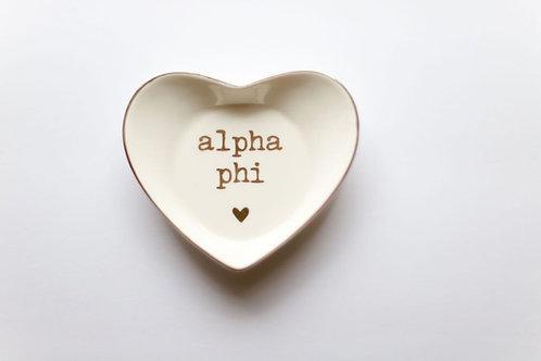 Alpha Phi Heart Ring Dish