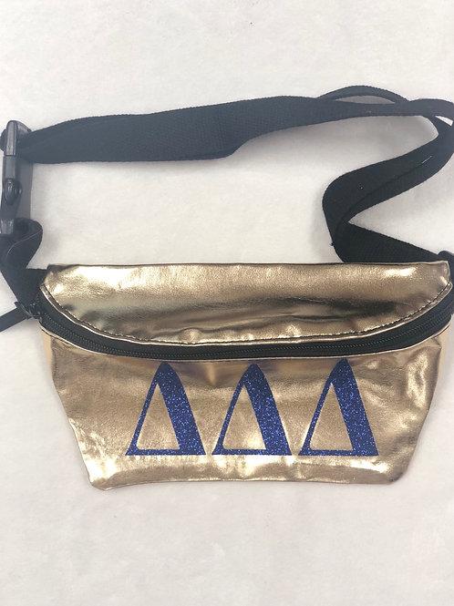 Delta Delta Delta Metallic Fanny Pack