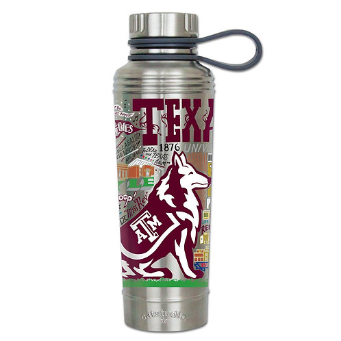 Texas A&M University Stainless Steel Water Bottles