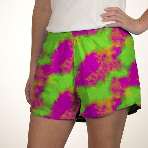 Neon Clouds Summer Shorts