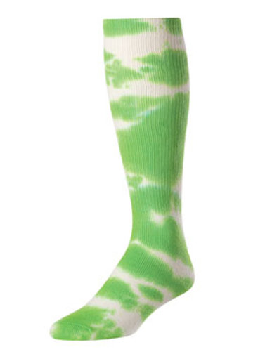 Green Tie Dye Knee-High Socks