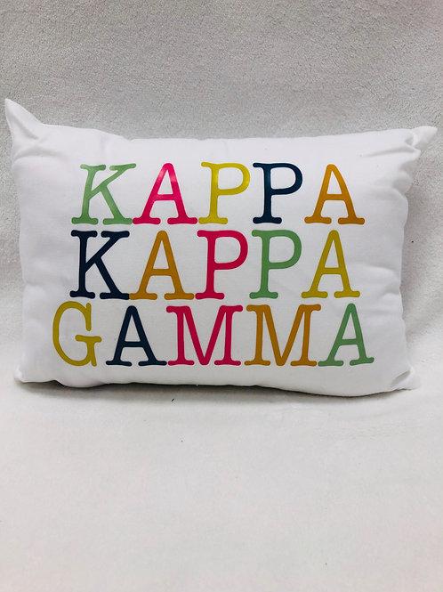 Kappa Kappa Gamma Color Block Pillow