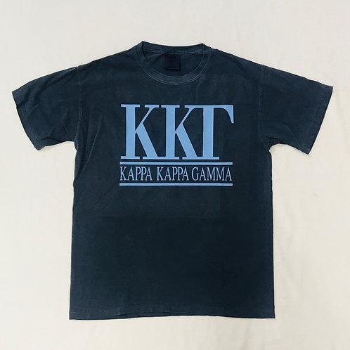 Kappa Kappa Gamma Navy Comfort Colors Tee