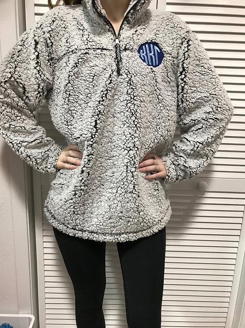 Kappa Kappa Gamma Sherpa Fleece - Grey