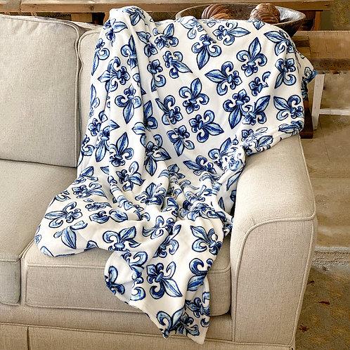 Kappa Kappa Gamma Fleur de Lis Blanket