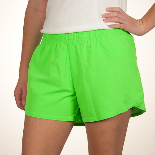 Adult Lime Green Summer Shorts