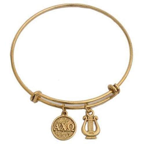 Alpha Chi Omega Gold Bracelet
