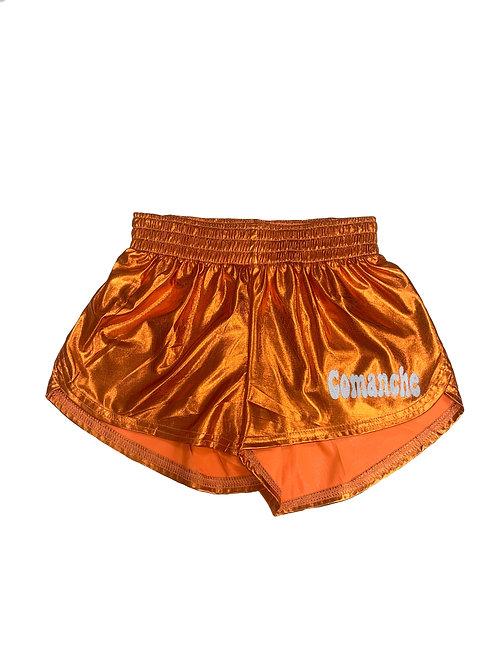 Comanche Orange Metallic Shorts
