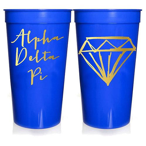 Alpha Delta Pi Plastic Tumbler